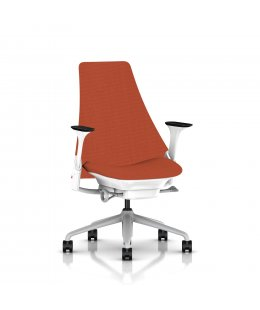 Fauteuil SAYL Herman MILLER Haut Dossier structure blanche