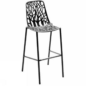 tabouret haut dossier forever lot de 4 ergosi ge. Black Bedroom Furniture Sets. Home Design Ideas