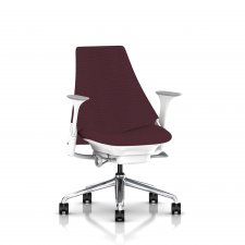 Fauteuil SAYL Herman MILLER Bas Dossier structure blanche