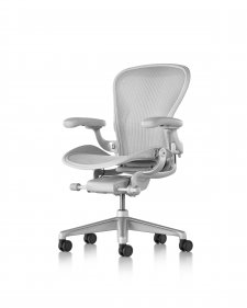 Fauteuil AERON Remastered Taille B Mineral/dark vapour - Herman MILLER