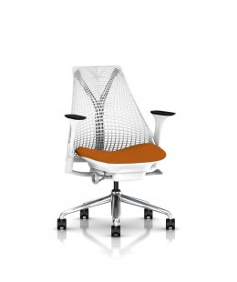 Fauteuil SAYL Herman MILLER Blanc/Orange Lobster