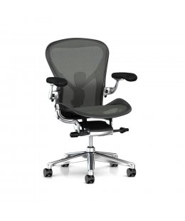 Fauteuil AERON Remastered Taille A Graphite/alu poli - Herman MILLER