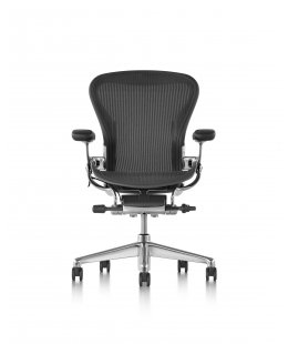 Fauteuil AERON Remastered Taille C Graphite/alu poli - Herman MILLER