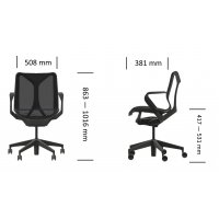 Fauteuil COSM Studio white bas dossier Mineral - Herman MILLER