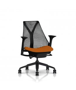Fauteuil SAYL Herman MILLER Noir/Orange Lobster