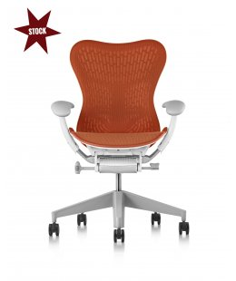Fauteuil MIRRA 2 Herman MILLER Butterfly Urban orange