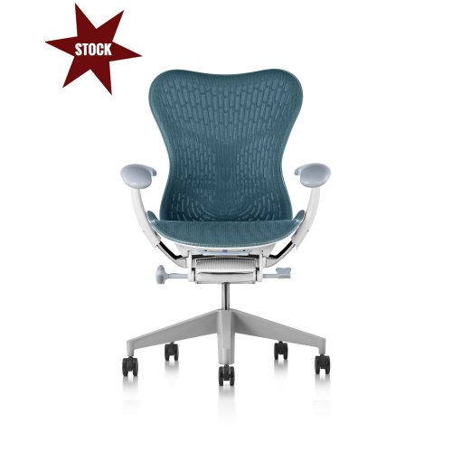 Fauteuil MIRRA 2 Herman MILLER Butterfly Dark Turquoise